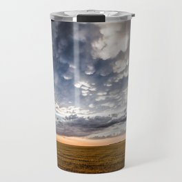 After the Storm - Spacious Sky Over Field in West Texas Travel Mug