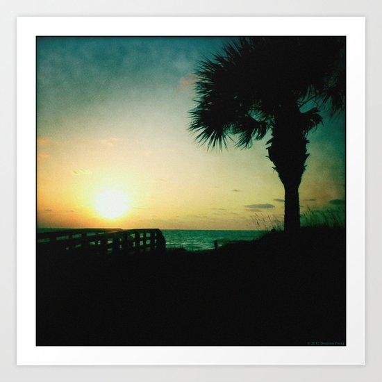 The silent sunset Art Print
