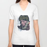 van gogh V-neck T-shirts featuring Van Gogh Typography Drawing by Bacht