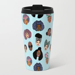 Black Hair Magic - Blue Travel Mug
