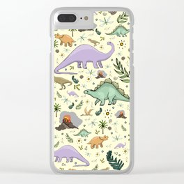 Dinosaurs! Clear iPhone Case