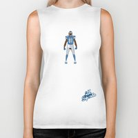 allyson johnson Biker Tanks featuring One Pride - Calvin Johnson by IllSports
