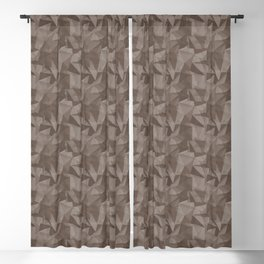 Abstract Geometrical Triangle Patterns 2 Benjamin Moore 2019 Trending color Mustang Brown 2111-30 Blackout Curtain