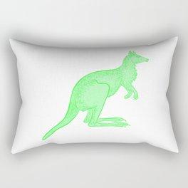 Bright Green Kangaroo Rectangular Pillow