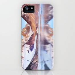 Cerro Torre, Patagonia, Argentina reflected in lake below, at sunrise iPhone Case