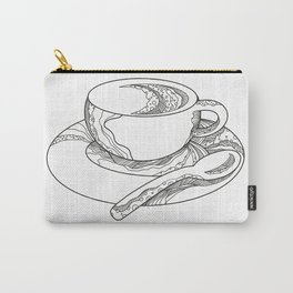 Cup of Coffee Doodle Carry-All Pouch