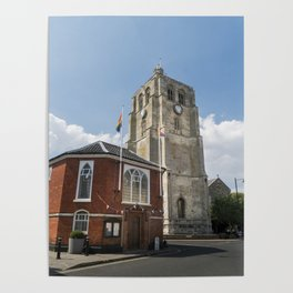Bell Tower and Town Hall Poster