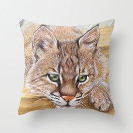Shamrock Bobcat swing Throw Pillow
