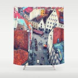 Tallinn art 6 #tallinn #city Shower Curtain