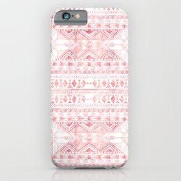 Stylish Rose Gold Geometric Tribal Aztec Pattern iPhone Case