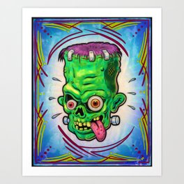 FrankenHead Art Print