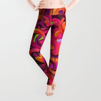 background Leggings featuring Good Vibes Background by Danny Ivan