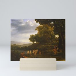 Claude Lorrain - Landscape with Dancing Satyrs and Nymphs Mini Art Print