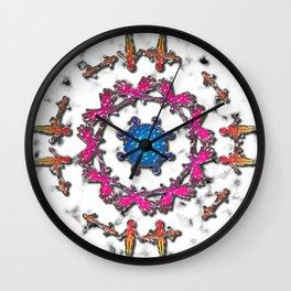 Alien Artefact Mandala Pattern Wall Clock