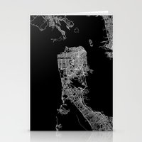 san francisco map Stationery Cards featuring san francisco map by Line Line Lines
