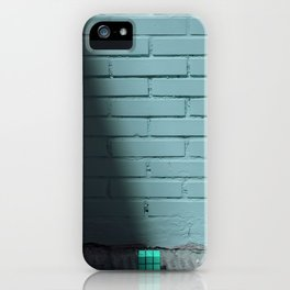 Blue and shady cube iPhone Case