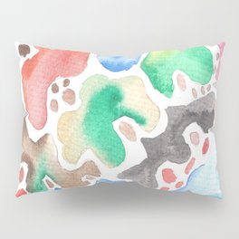 170623 Colour Shapes Watercolor 2   Abstract Shapes Drawing   Abstract Shapes Art  Watercolor Painti Pillow Sham
