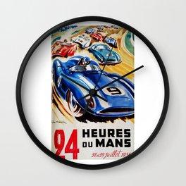 Le Mans 1956, vintage poster, Le Mans t-shirt, 24hs Le Mans Wall Clock