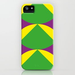 Of course those are Green Beans coming out from Yellow Shells. Happening in a Purple River. iPhone Case