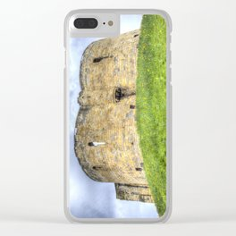 York Castle And Daffodils Clear iPhone Case
