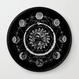 Boho Moon Wall Clock