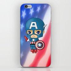 Chibi Captain America iPhone & iPod Skin