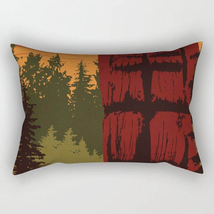 Gwaii Haanas National Park Reserve, National Marine Conservation Area Reserve & Haida Heritage Site Rectangular Pillow