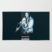 neil gaiman Area & Throw Rugs featuring Neil Armstrong Tribute by Largetosti