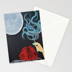 Midnight Toker (#2) - Smoking Lady Series Stationery Cards