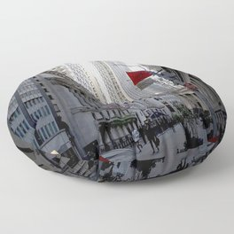 New York city street view Floor Pillow