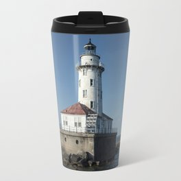 Chicago Harbor Light Travel Mug