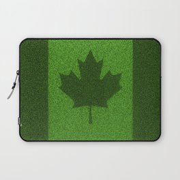 Grass flag Canada / 3D render of Canadian flag grown from grass Laptop Sleeve