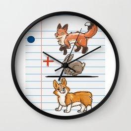 Corgi Math Wall Clock
