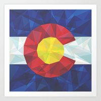 colorado Art Prints featuring Colorado by Fimbis