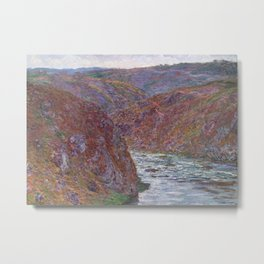 Valley of the Creuse (Gray Day) Metal Print