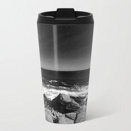 ocean view in black and white Metal Travel Mug