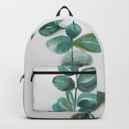 Eucalyptus leaves, blue green round leaves Backpack