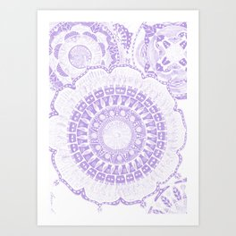 Indian Decoration Vector Art Print
