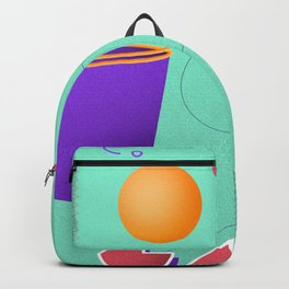 March Radness – Aqua Basketball Print Backpack