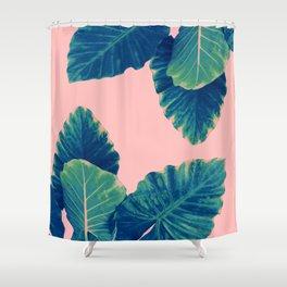 Greenery on Blush Shower Curtain