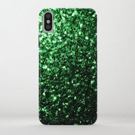 Glamour Dark Green glitter sparkles iPhone Case