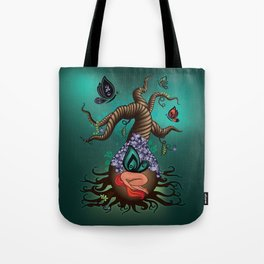 Gnarly Butterfly Tree Tote Bag