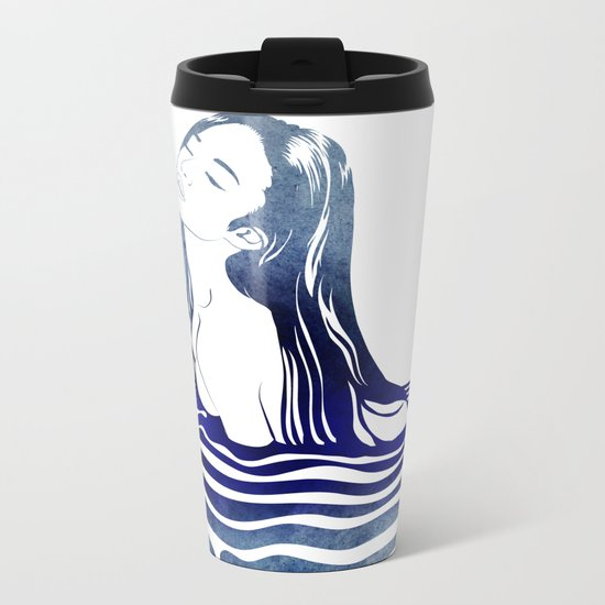 Water Nymph VIII Metal Travel Mug