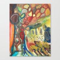 sasquatch Canvas Prints featuring Sasquatch by Dena Nord