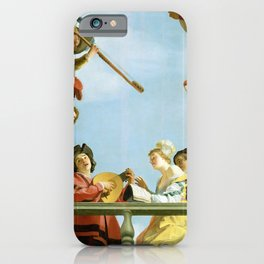 Gerard van Honthorst - Musical Group on a Balcony iPhone Case