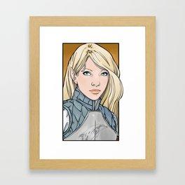 Calaeriel, Half-Elven Paladin Framed Art Print