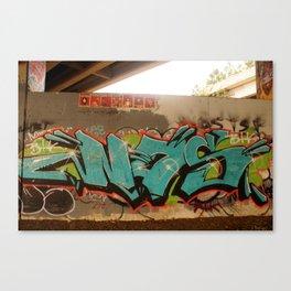 NAS Graffiti Wall Canvas Print