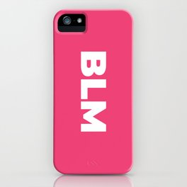 BLM (Pink Background) iPhone Case