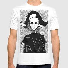 eva natas Mens Fitted Tee White MEDIUM