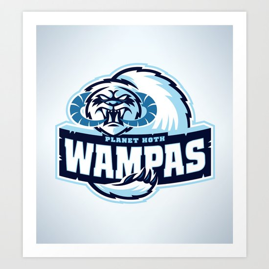 Planet Hoth Wampas Art Print